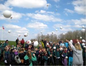 Spejderne med balloner