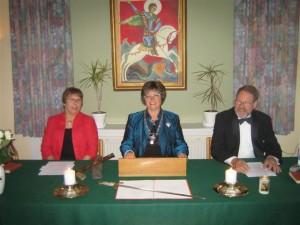 Gildekansler: Agnes Jacobsen, Gildemester: Annelise Debois, Gildeskatmester: Keld Kirkeskov